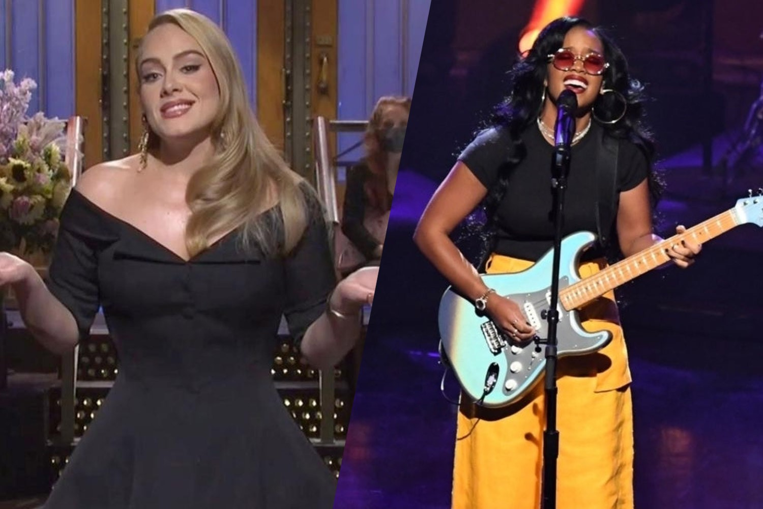 Adele e H.E.R no Saturday Night Live