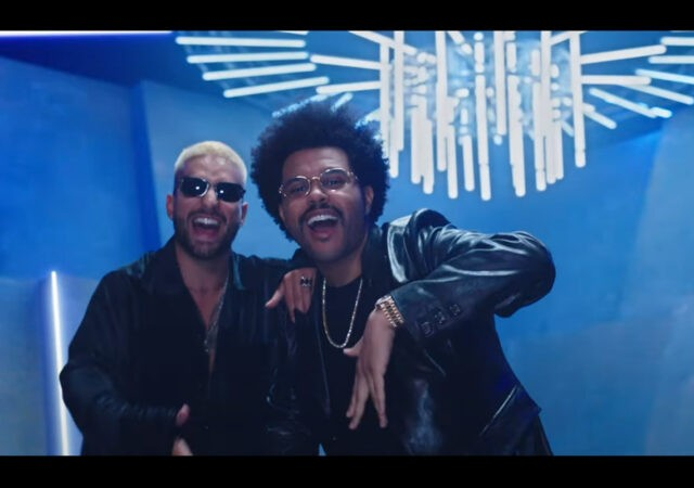 "Maluma e The Weeknd no clipe do remix de ""Hawái"""