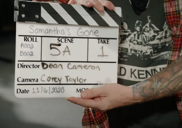 "Corey Taylor no clipe de ""Samantha's Gone"""